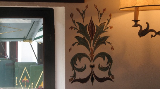 Glorious Peleys Castle Hotel Double Suite Fresco Detail