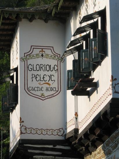 Glorious Peleys Castle Building Exterior Logo Fresco
