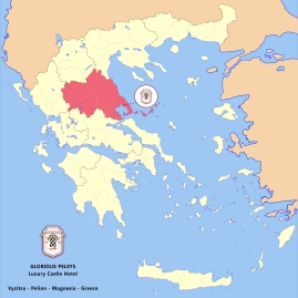 Glorious Peleys Pelion Magnesia Thessaly Greece Map
